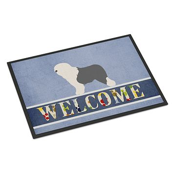 Old English Sheepdog Bobtail Indoor or Outdoor Mat 18x27 BB8294MAT
