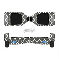 The Gray & White Seamless Morocan Pattern Full-Body Skin Set for the Smart Drifting SuperCharged iiRov HoverBoard