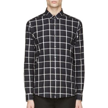 Surface To Air Navy And White Gingham Check Shirt
