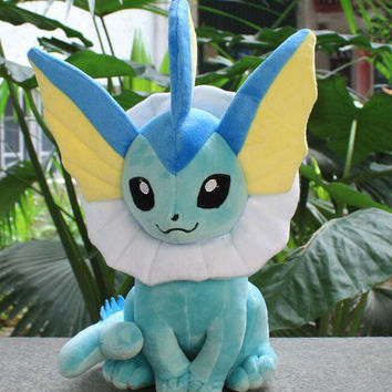 2016 2016 New  Anime Pokemon Vaporeon Plush Doll Stuffed Toys 35CM #10