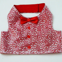 Dog Vest: Candy Canes Holiday Boy Dog Clothes