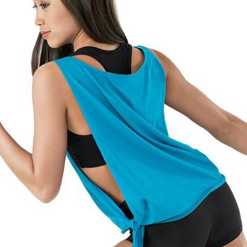 fad7dfbe7b830 Open Side Tie Tank Top from Dancewear Solutions