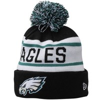 Mens Philadelphia Eagles New Era Black Biggest Fan Redux Knit Beanie