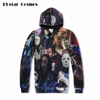 PLstar Cosmos 2018 Harajuku men women hoodie 3D horror movie killers/Halloween Devil/shark/Zombie sweatshirt hoody outerwear top