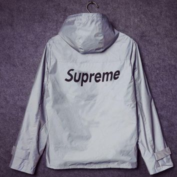 Hooded Zipper Cardigan Sweatshirt Jacket Coat Windbreaker Sportswear Supreme