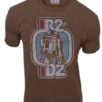 Junk Food Star Wars R2-D2 Brown Mens T-shirt