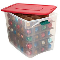 Shop Homz Products 17-in x 18-in Red Plastic Ornament Storage Bag at Lowes.com