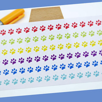 PLANNER STICKER || cat paws || animal || small rainbow colored | for your planner or bullet journal