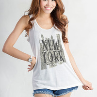 New York Yankee NYC art Tank Tops Women Racerback Cute Workout Tanks Fitness Shirt Stylish Top Gifts Teen Tumblr Clothing