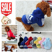 Pet Dog Clothes Autumn Winter Hoodie Coat Jumpsuit Sweater Adidog Clothing for Large Dogs Medium Small XS S M L XL XXL = 1932452548