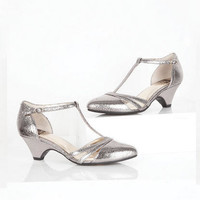 Cool As A Cucumber T-Bar Heels by BC - Pewter