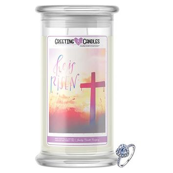 He Is Risen Jewelry Greeting Candles