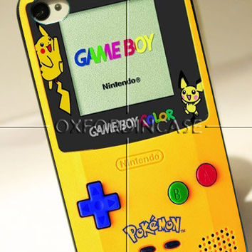 Pokemon Gameboy Yellow - for iPhone 4/4S case iPhone 5 case Samsung galaxy s2/s3/s4 case hard case