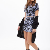 Floral Cutout Mini Dress