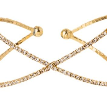 Criss Cross Bracelet- Gold
