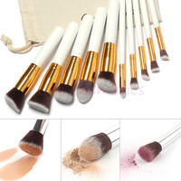 10 Makeup Brushes Superior Softness For Contouring and Blush - Professional