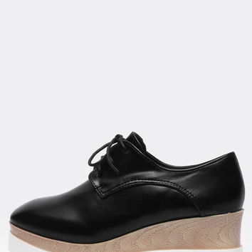 Black Casual PU Flats