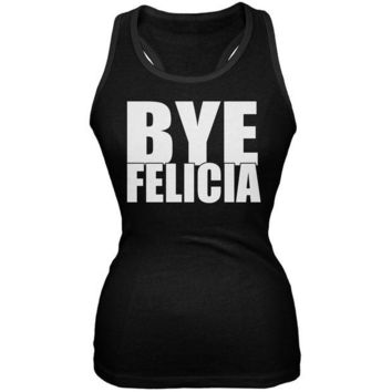 DCCKU3R Bye Felicia Black Juniors Soft Tank Top