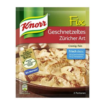 Knorr Fix for Veal Geschnetzeltes Zurich Style from Germany, 1.4 oz