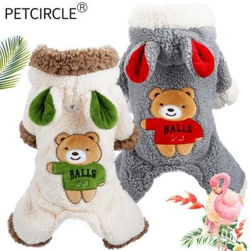 PETCIRCLE Dog Clothes Winter- Teddy Puppy Dog Bulldog Chihuahua Cat Clothes Pet Clothes Bear Big Change Coat