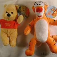 Disney Winnie the Pooh & Tigger Stuffed Animal Plush Soft Toys Tiger Bear Doll