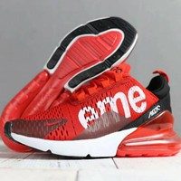 Nike Air X Supreme Fashion Women Men Leisure High Help Sport Running Shoe Sneakers Red I-SSRS-CJZX