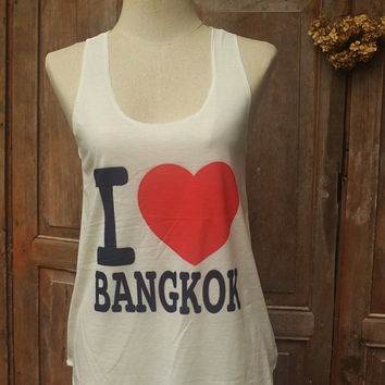Love bangkok Tank Top Camis Women Fitness top for Beach Summer Clothes Gift Summer fashion tshirt Vintage tank top Mixed Shorts Pants Jeans