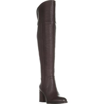 Franco Sarto Ollie Over the Knee Boots, Burgundy, 8.5 US / 38.5 EU