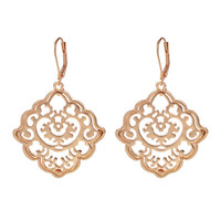 New Brand Design Bohemian Jewelry 18k Gold Silver Color Alloy Pierced Flower Drop Earring for Women Brincos Grandes Accessories