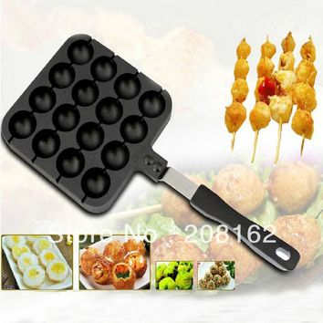 Octopus Pill Barbecue Frying Pan Quail eggs Bakeware Gas Boiler Snack Baking Dishes With Steel Sign Kitchen Gadgets