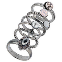 Rhinestone Stack Ring Pack - New In This Week  - New In