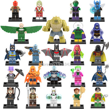 Single Sale Marvel Super Heroes Avengers Saturn Girl Raven Batman Robin Joker Building Blocks Bricks Figures Kids Gift Toys