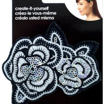 Embroidered Sequin Flower Headband Accent Case Pack 24