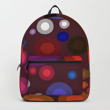 Retro Multi Color Bubbles Backpack by Sheila Wenzel