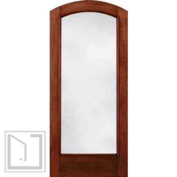 jeld-wen 5037 Mahogany Door Cherry Finish Low-E IG Glass Optional Arch Top