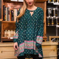 Dare You To Groove Tunic, Teal