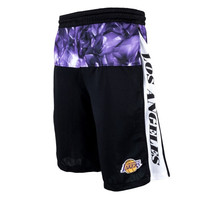 Los Angeles Lakers Big & Tall Emerald Shorts - Black