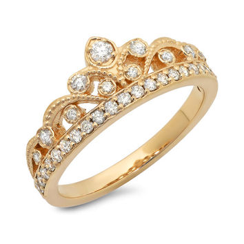 Princess Crown Diamond Ring .40 ct. tw.