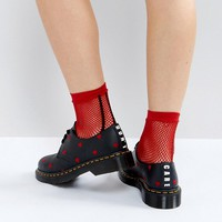 Dr Martens x Lazy Oaf 1461 Heart Flat Shoes at asos.com