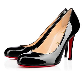 Christian Louboutin Cl Simple Pump Black Patent Leather Pumps 3080377bk01 -