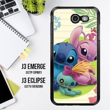 Stitch And Angel Wallpaper Y1725 Samsung Galaxy J3 Emerge, J3 Eclipse , Amp Prime 2, Express Prime 2 2017 SM J327 Case