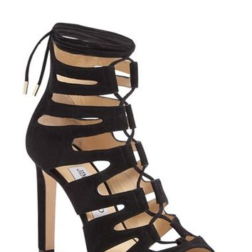 Jimmy Choo 'Hitch' Lace-Up Cage Sandal (Women) | Nordstrom
