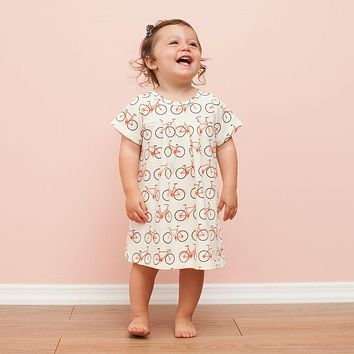 Winter Water Factory Orange Bicycles Florence Baby Dress
