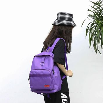 University College Backpack Fashion Harajuku Ulzzang  Style Middle School All Match School Bag Simple Oxford Cloth Sen Girl AT_63_4