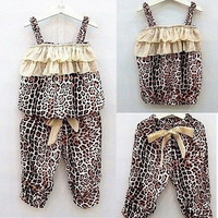 New 2 Pieces Baby Girls Kids Children vest + pants Clothes Suits Outfits Sets = 5618638721