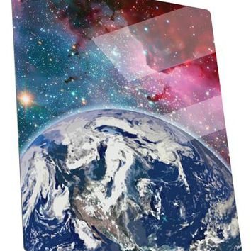 Fantasy Galactic Earth All Over Metal Panel Wall Art Portrait - Choose Size by TooLoud