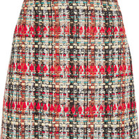 Gucci - Checked tweed mini skirt