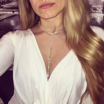 ac DCCKO2Q New style fashion jewelry accessories crystal  punk  body chain for women sexy statement body chains BN-9