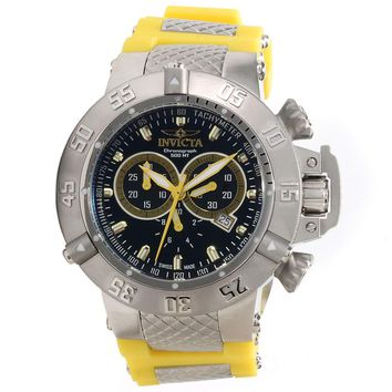 Invicta 13997 Men's Subaqua Noma III Black Dial Yellow Rubber Strap Chronograph Dive Watch