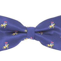 Tok Tok Designs Pre-Tied Bow Tie for Men & Teenagers (B301, Navy Blue)
